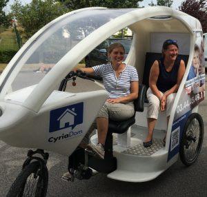 Vélo Taxi publicitaire Affipub Communication Beauvais Oise Agence communication