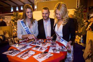 Visite de Miss France 2016 Iris Mittenaere et Miss Picardie 2015 Emilie Delaplace d'EXPO60 organisé par Affipub Communication