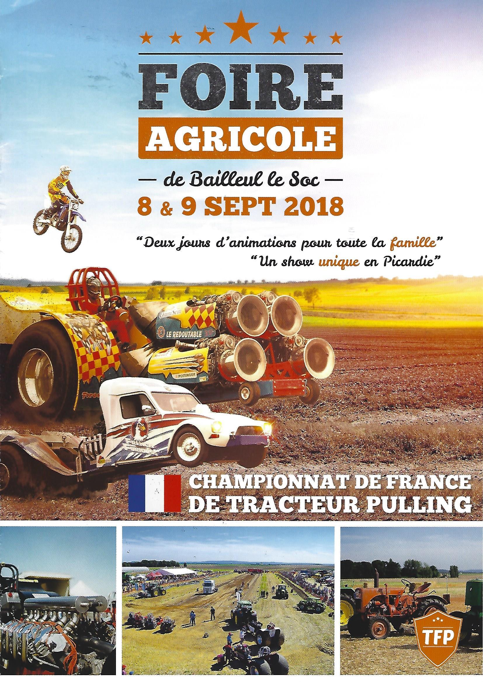 Foire Agricole de Bailleul-le-Soc 08 et 09 Septembre