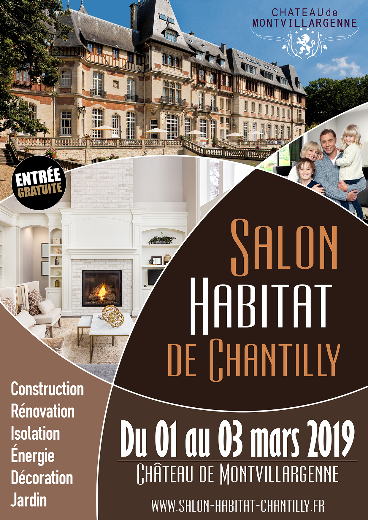 Salon de l'Habitat de Chantilly du 01 au 03 Mars 2019