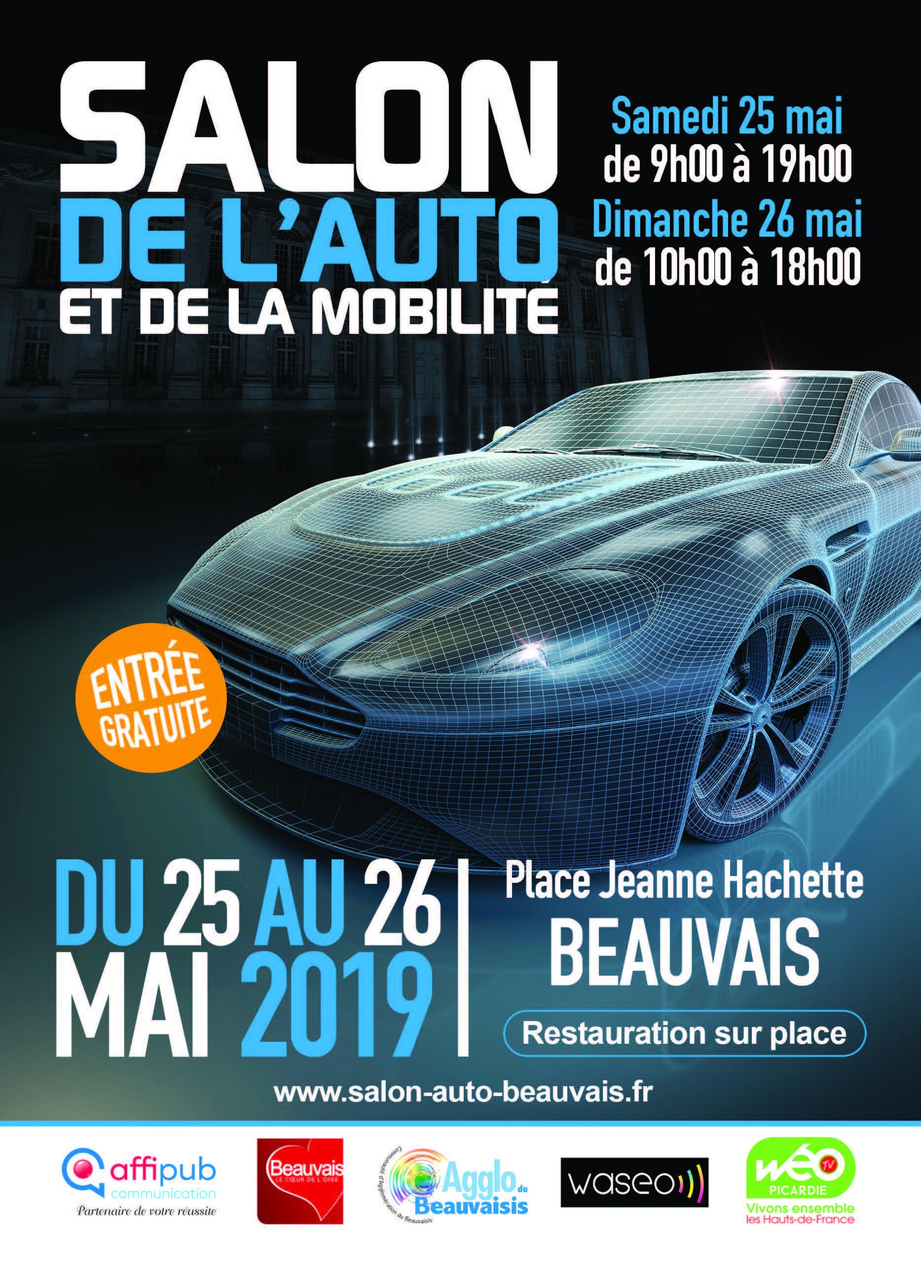 Salon de l'Auto de Beauvais les 25 et 26 Mai 2019