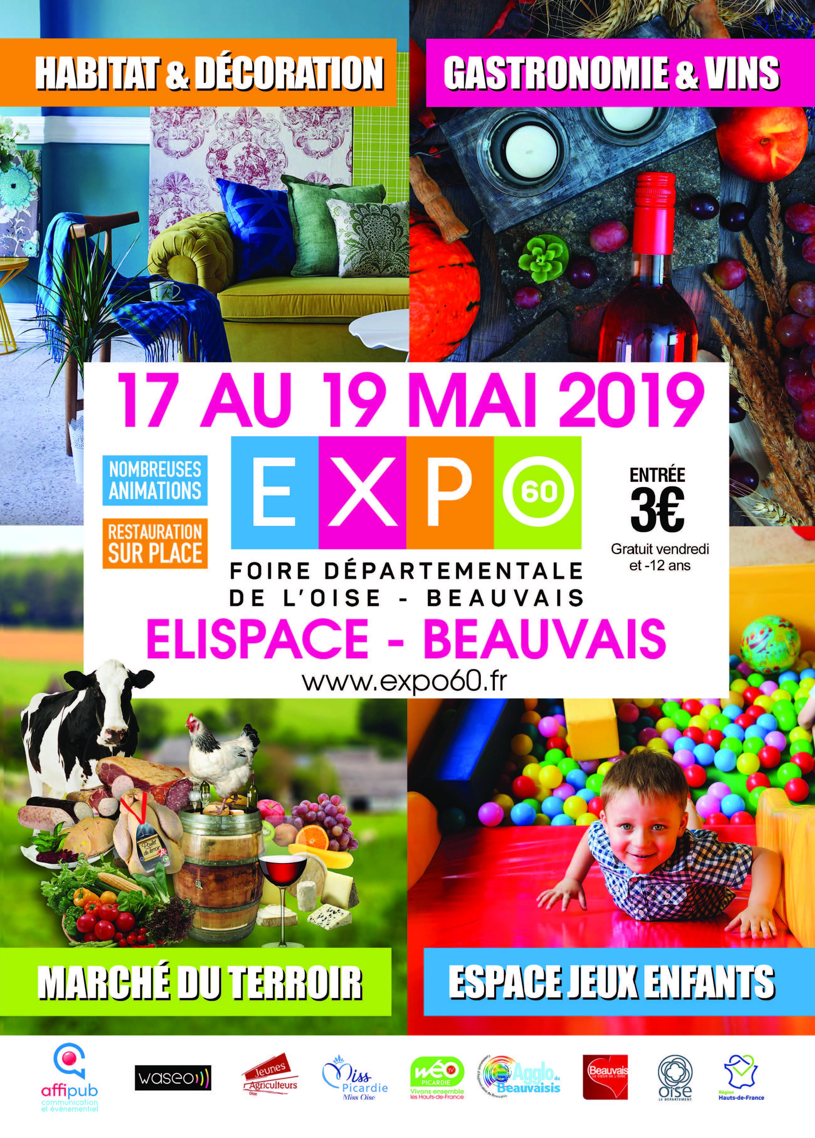 EXPO60, la Foire Expo de l'Oise du 17 au 19 Mai 2019