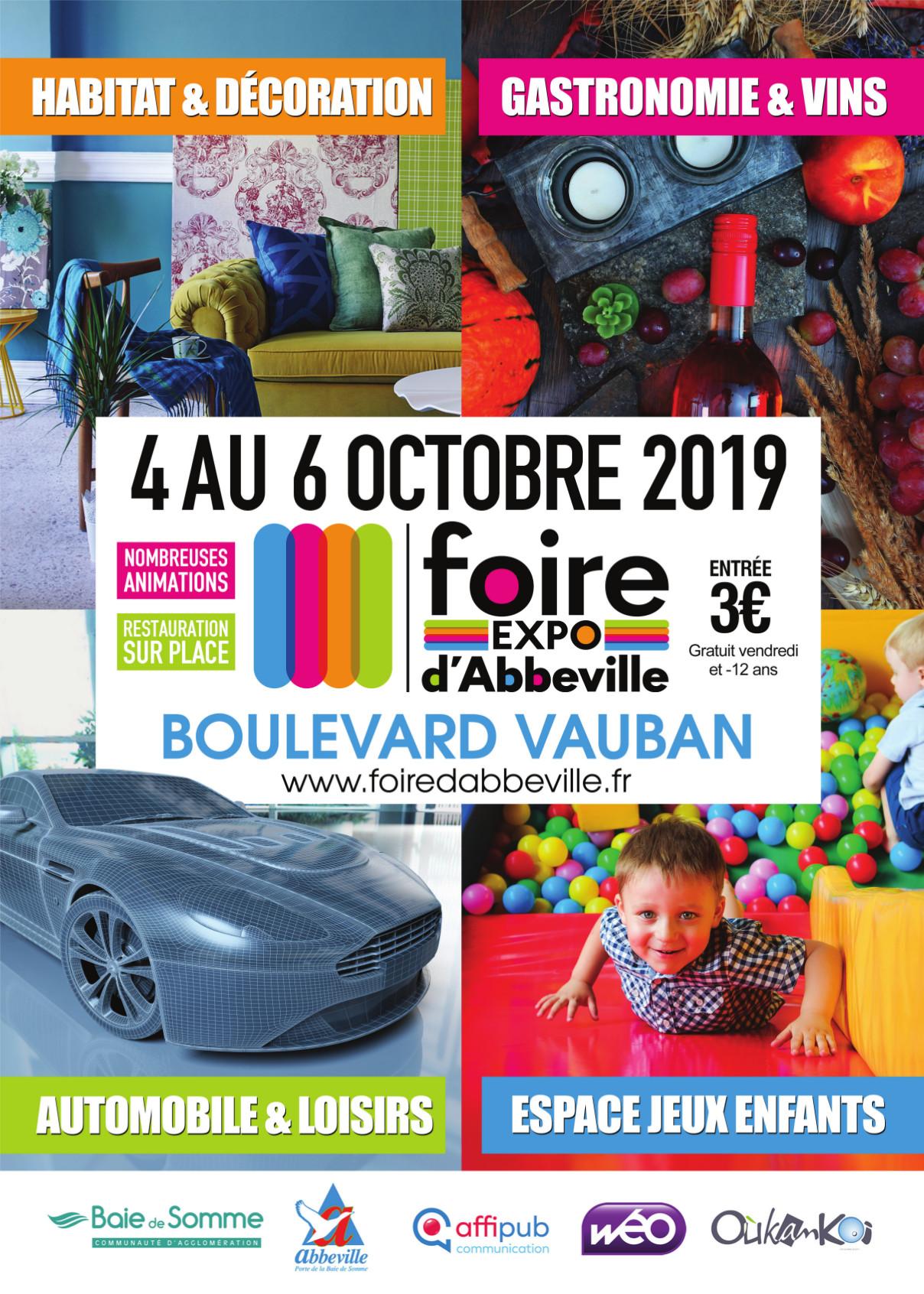 Foire Exposition d'Abbeville du 04 au 06 Octobre 2019