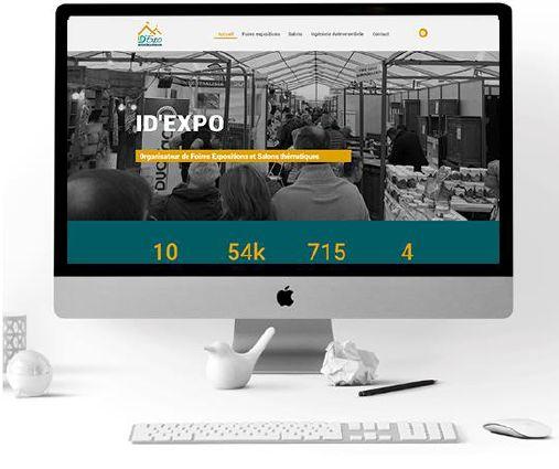 Création du site ID'Expo, site internet vitrine