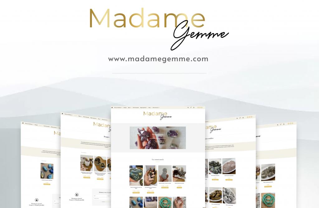 Création du site e-commerce de Madame Gemme, boutique en ligne