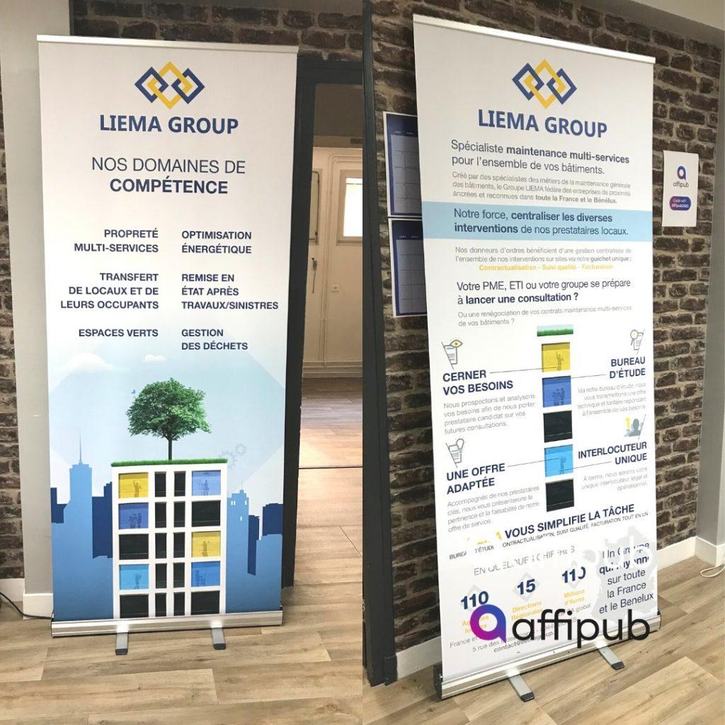 Projet client creation d'un roll up pour Liema Group