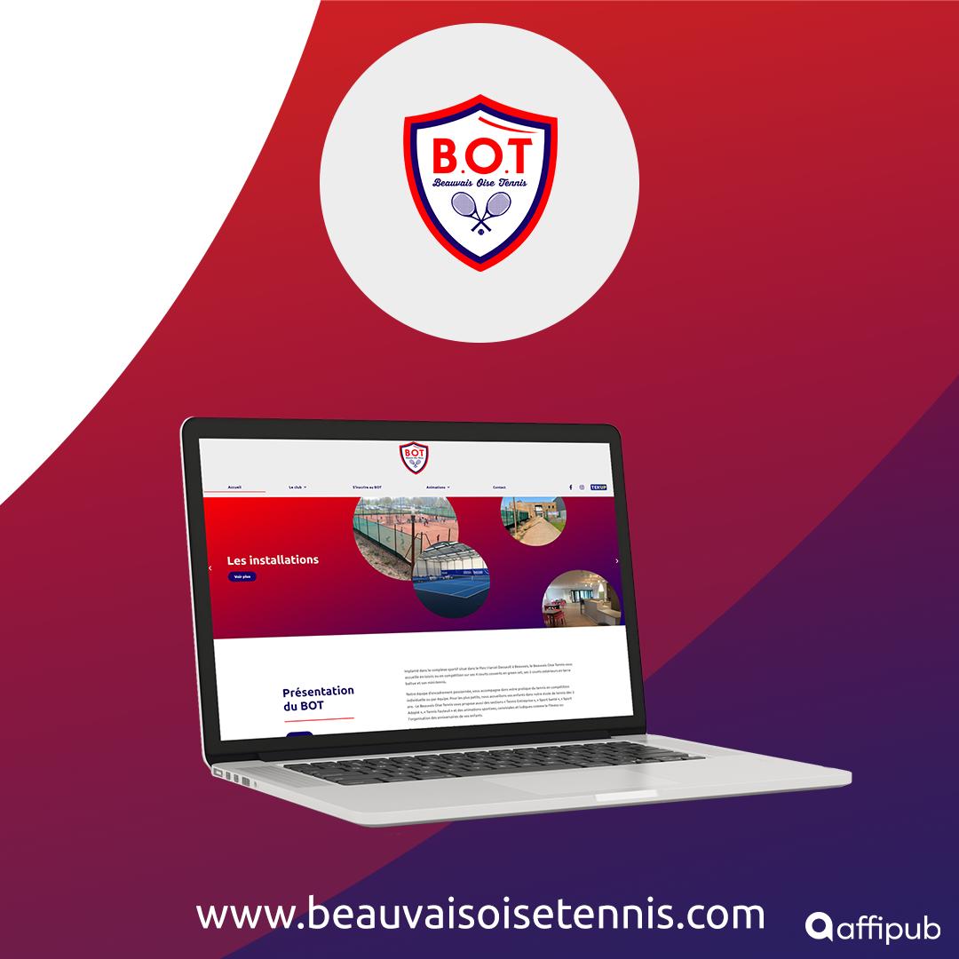Site internet e-commerce du Beauvais Oise Tennis