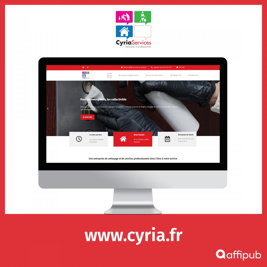 Site web de Cyria Services à Beauvais