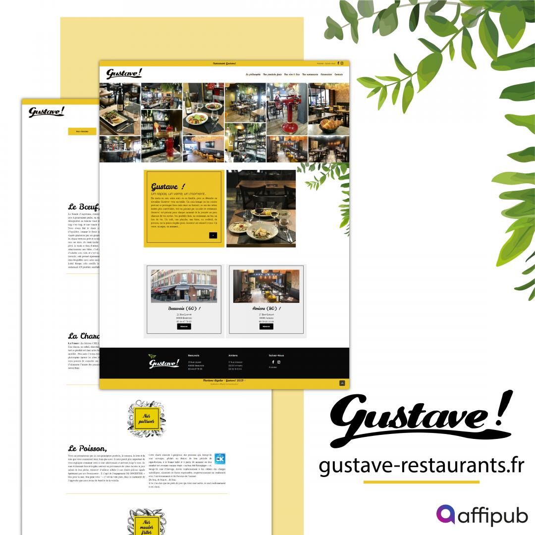 Site vitrine du restaurant Gustave